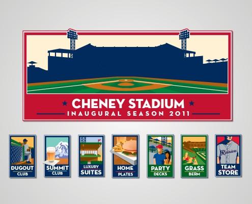 Cheney Stadium Icons